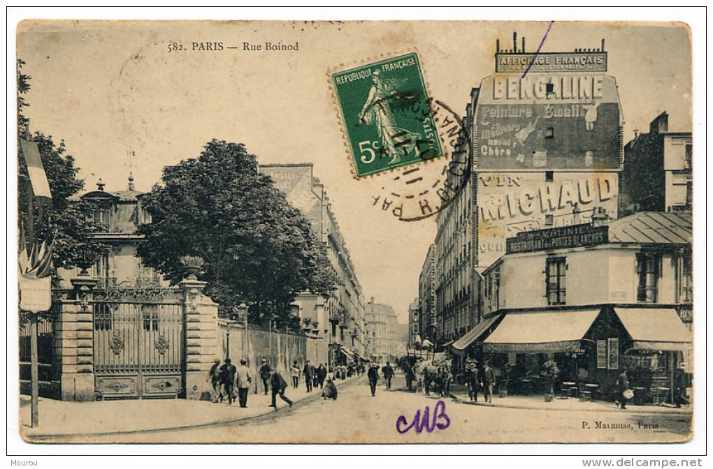 CPA - PARIS XVIII - Rue Boinod à La Rue Ordener - District 18