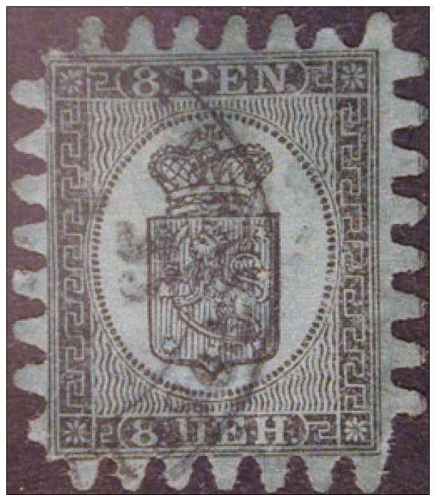 18219 - FINLANDIA -  N.8 - F.A.D. - 1856-1917 Russische Administratie