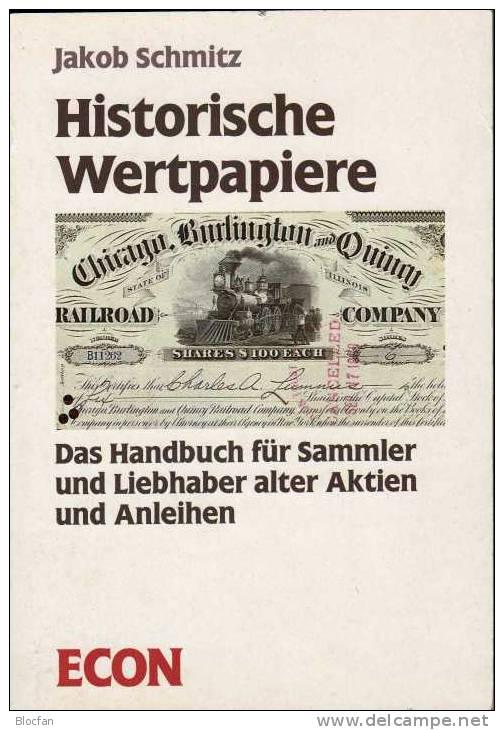 Sortiment 6 Historische Aktien Plus Handbuch 95€ Sammlerwert Nach Suppes Wertpapierkatalog - Non Classés