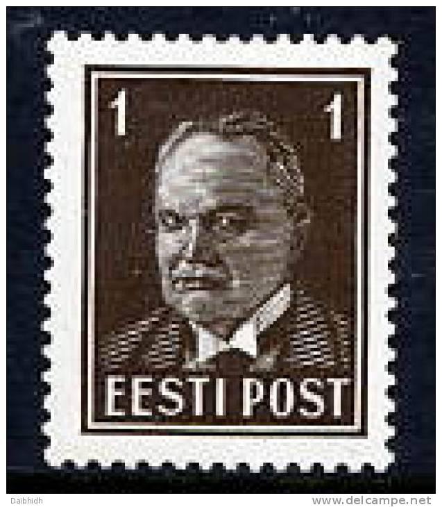 ESTONIA 1936 Päts Definitive 1s MNH / **.  Michel 113 - Estonia