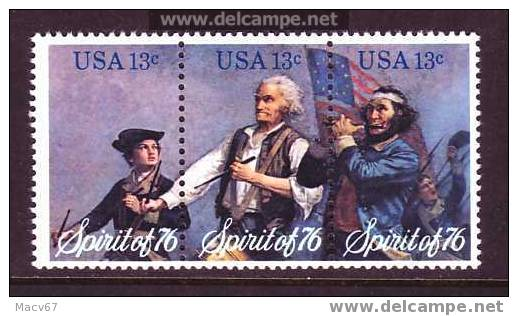 U.S. 1629-31   **  SPIRIT Of 76 - Unused Stamps