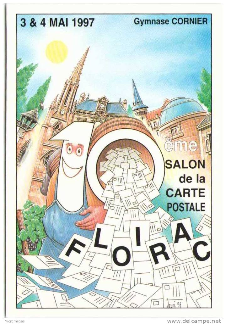 Bernard VEYRI - 10ème Salon De La Carte Postale - Floirac 1997 - Veyri, Bernard