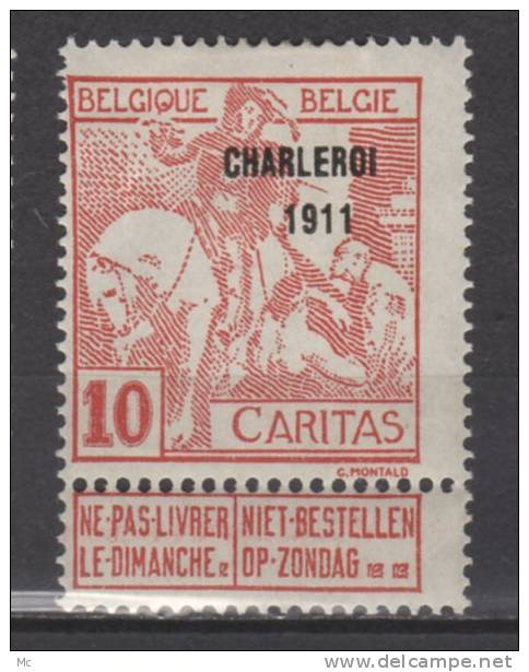 Belgique N°  106 Luxe ** - 1910-1911 Caritas