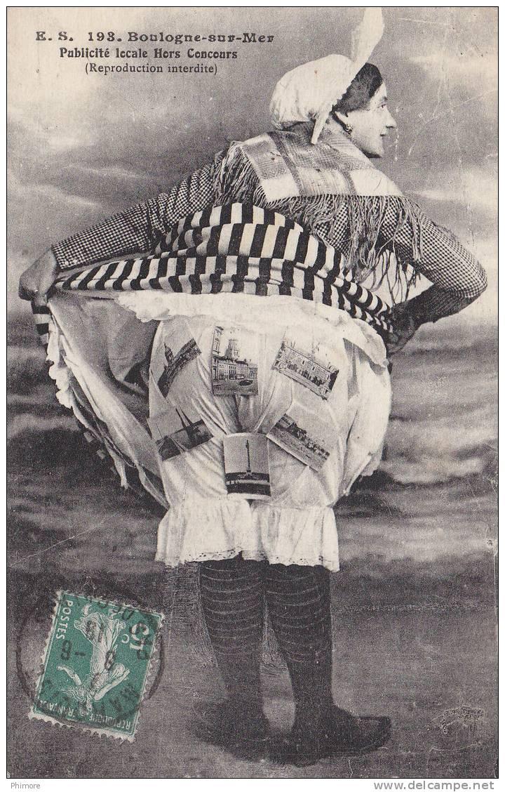 Ph-CPA Boulogne Sur Mer (Pas De Calais) Publicité Locale Hors Concours - Boulogne Sur Mer