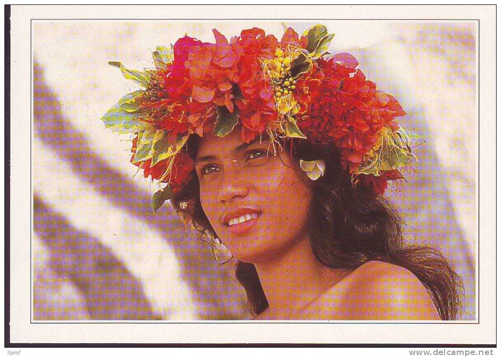 Giovane Vahinè  A Morea, Polinesia Francese (vedi Retro) - Tahiti