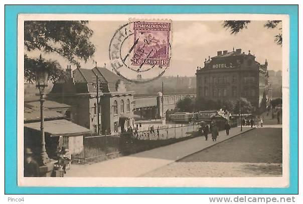 REPUBBLICA CECA PRAGA  NUSLE KRA'L VINOHRADY CARTOLINA FORMATO PICCOLO VIAGGIATA NEL 1926 - Repubblica Ceca
