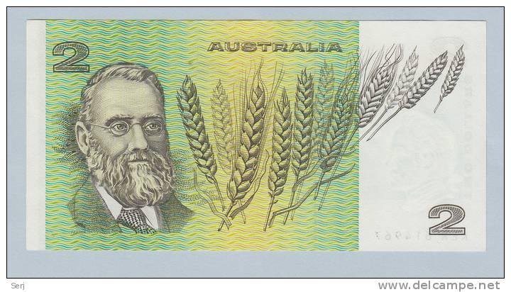 Australia 2 Dollar 1983 AUNC CRISP Banknote P 43d 43 D - Emisiones Gubernamentales Decimales 1966-...