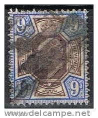 Sello Gran Bretaña 1902, 9 P. Edward VII, Yvert 115 º - 1902-1951 (Re)