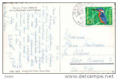 Saas Fee, Luftseilbahn (106947) - VS Valais