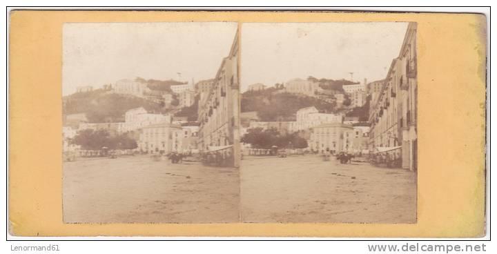 PHOTO STEREO ANCIENNE NAPLES ITALIE - Stereoscopic