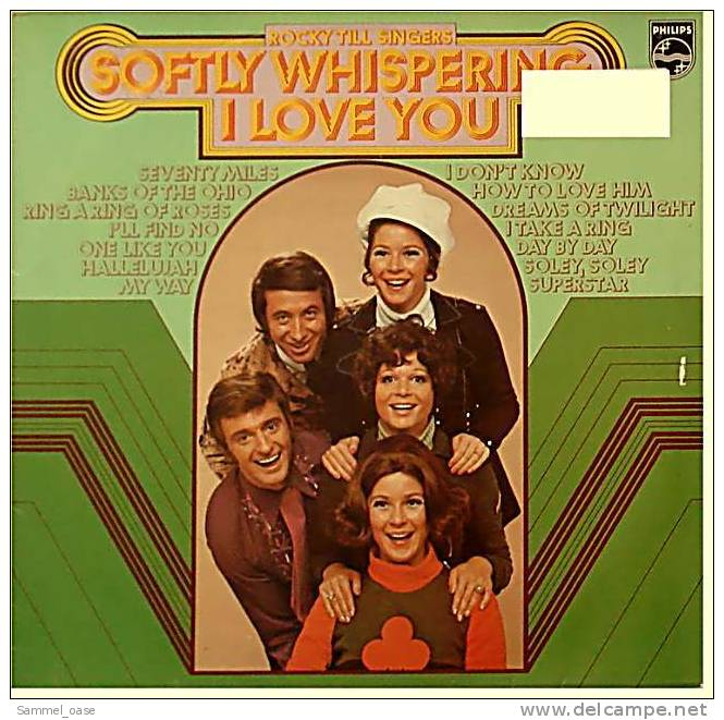 LP  Rocky Till Singers  -  Softly Whispering I Love You  -  Von Philips  -  6305 137  - Von Ca.1974 - Disco, Pop