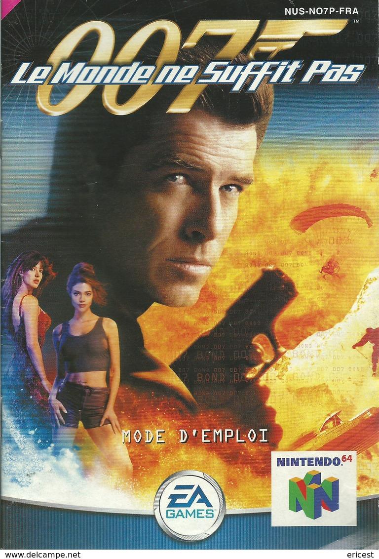 NOTICE JEU NINTENDO 64 007 LE MONDE NE SUFFIT PAS - Nintendo 64