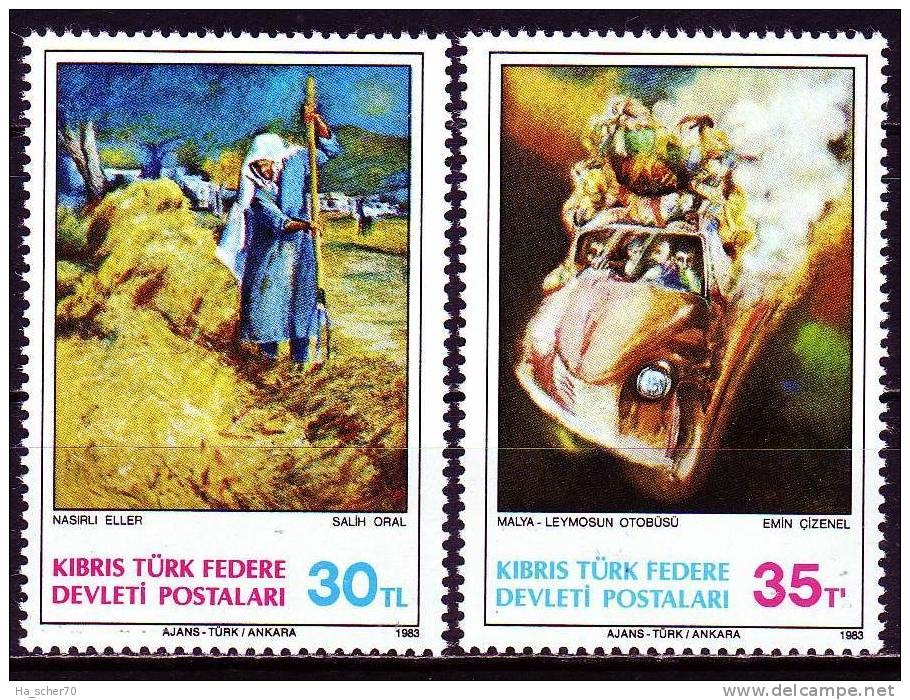 Zypern(Türkisch) 1983 - 125-26 ** / Michel 2008 - Neufs