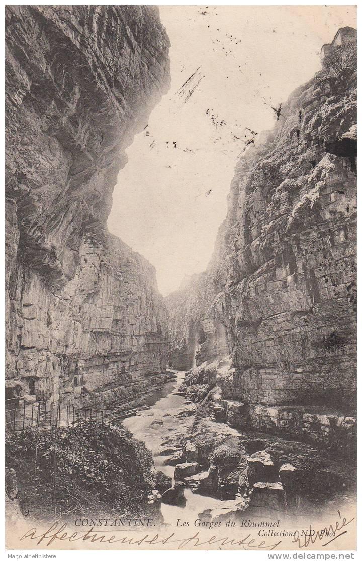 ALGERIE - CONSTANTINE -  Les Gorges Du Rhummel. Coll. ND Phot N° 9. Voyagée 1904 - Constantine