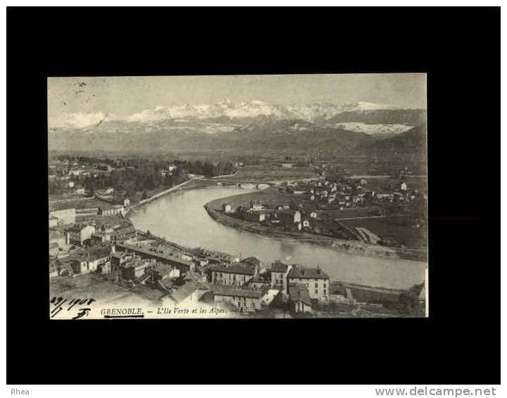 38 - GRENOBLE - L´IleVerte Et Les Alpes - Grenoble