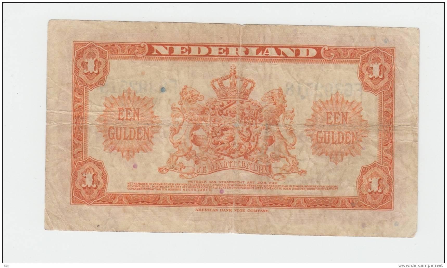 Netherlands 1 Gulden 1943 AVF P 64 - [2] 1815-… : Kingdom Of The Netherlands