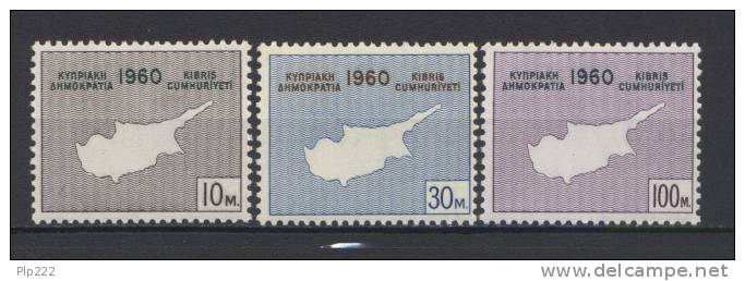 Cipro 1960 Unif 186/88 MNH VF - Cipro