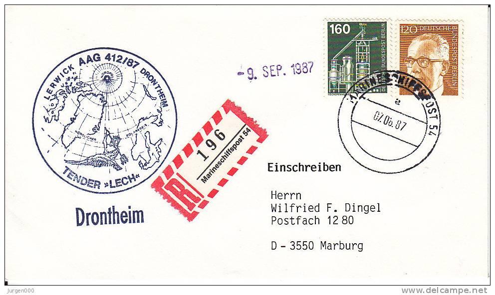 Marine Scheepspost, Tender Lech, Drontheim (XX17724) - Bateaux