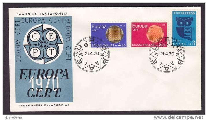 Greece FDC Cover 1970 Europa CEPT - FDC