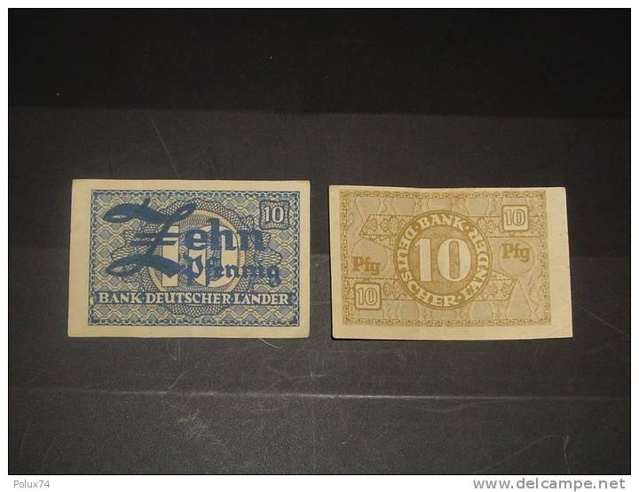 Allemagne 10 Pfennig-petit Billet - Allemagne