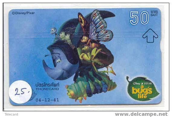Phonecard Disney Thailand  * Télécarte Disney Thailande.- (25) BUG´S LIFE - Disney