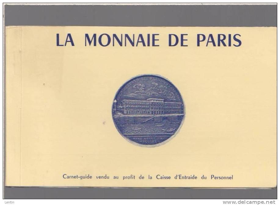 La Monnaie De Paris -carnet-guide Complet Des 12 Cartes Postales - 1970circa - Monnaies (représentations)