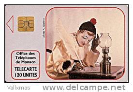 Tarjeta MONACO - Pierrot Ecrivain - Mónaco