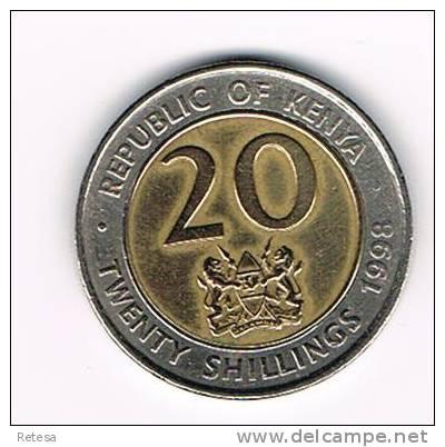 KENYA  20 SHILLINGS 1998 - Kenya
