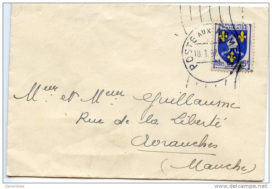 TP 1005 Sur Enveloppe Des Armées à Avranches - Marcophilie (Lettres)