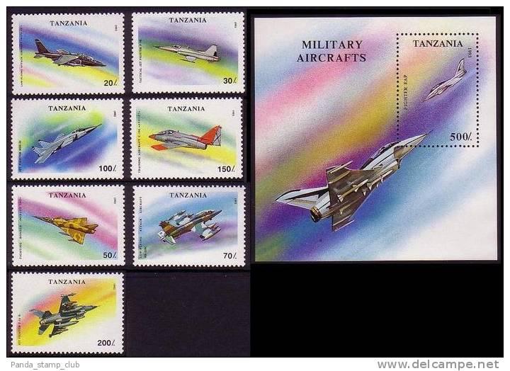 Tanzania Military Aircrafts 7v+MS SG1673/79+MS1680 - Avions
