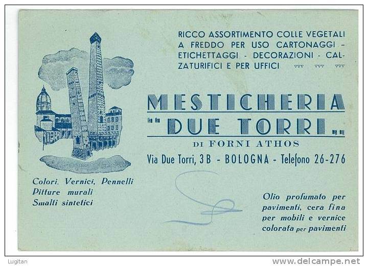 ITALIA REGNO - CARTOLINA PUBBLICITARIA  -  MESTICHERIA DUE TORRI  - ANNO 1944  RARA - 4. 1944-45 Social Republic