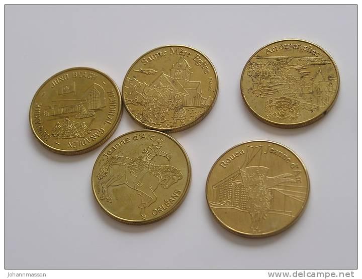 Lot De 5 Jetons  Médaille De Collection - Non Classés