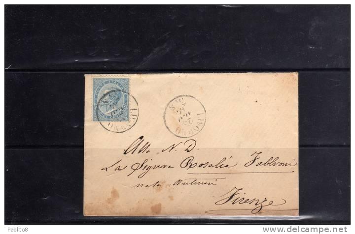 ITALIA REGNO 1865 CENTESIMI 15 LONDRA SU BUSTA - Marcofilía