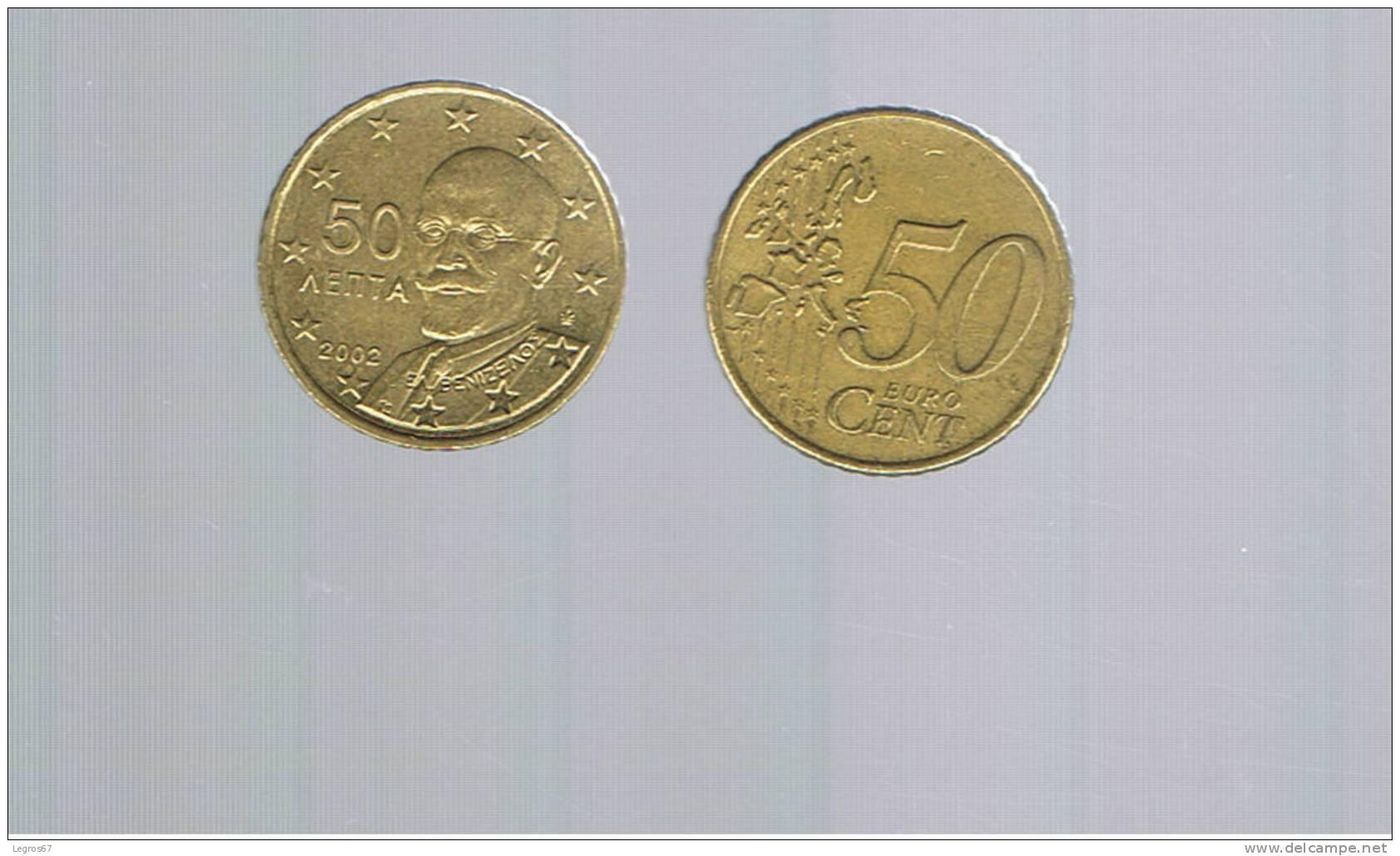 PIECE DE 50 CT EURO GRECE 2002 - Grèce