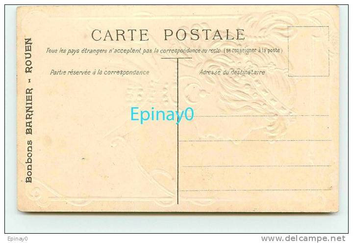 B - CARTE GAUFREE - ART DECO - ART NOUVEAU - FEMME - BIJOUX - EGYPTE - SPHINX - MYKERINOS - PUBLICITE BARNIER ROUEN - Fantaisies