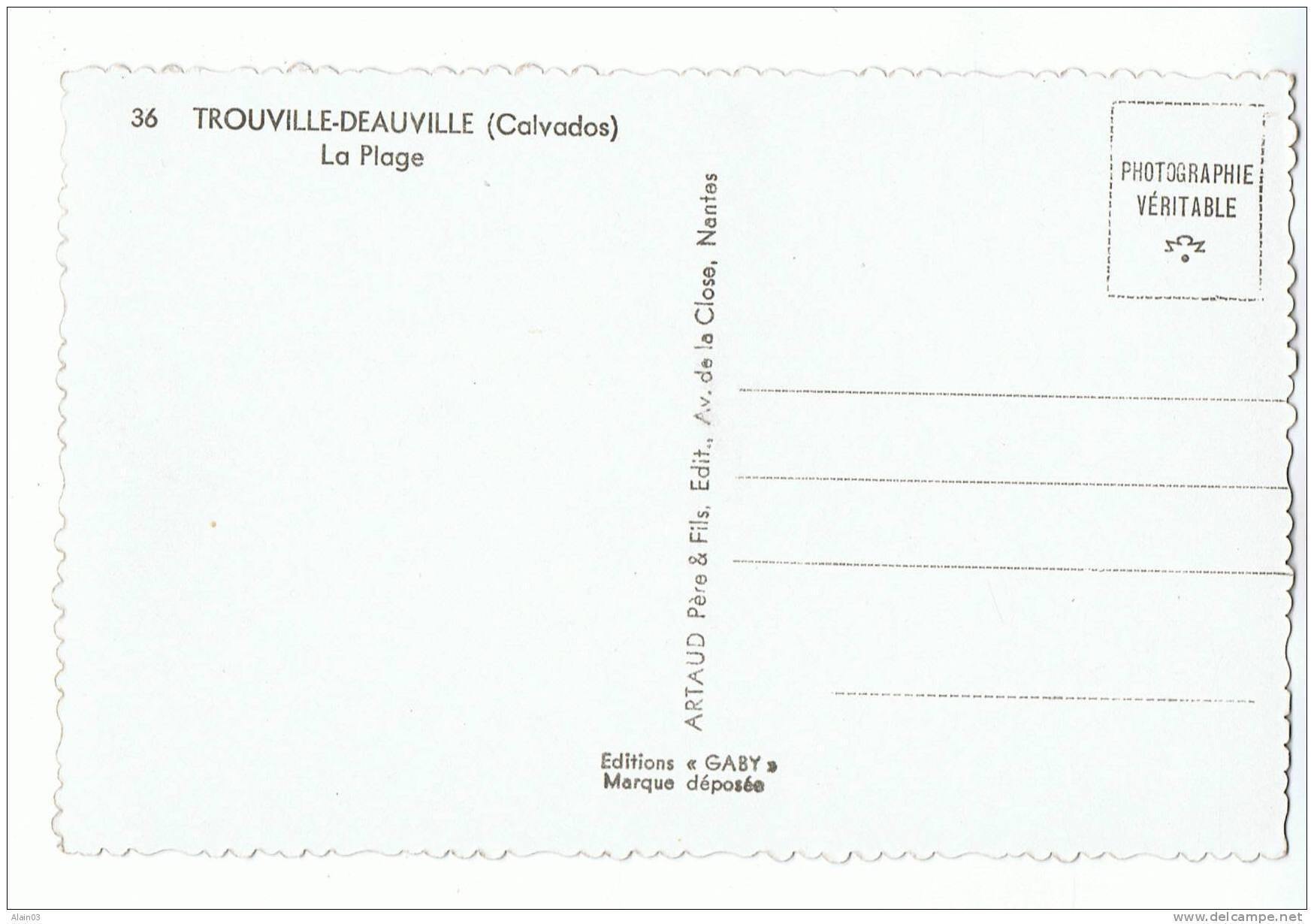 CPSM - 14 - TROUVILLE-DEAUVILLE - La Plage - Gaby 36 - Trouville