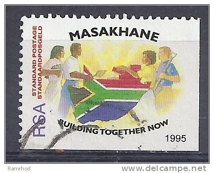 SOUTH AFRICA 1995 Masakhane Campaign. - (60c) People Building Flag Wall  FU - Used Stamps