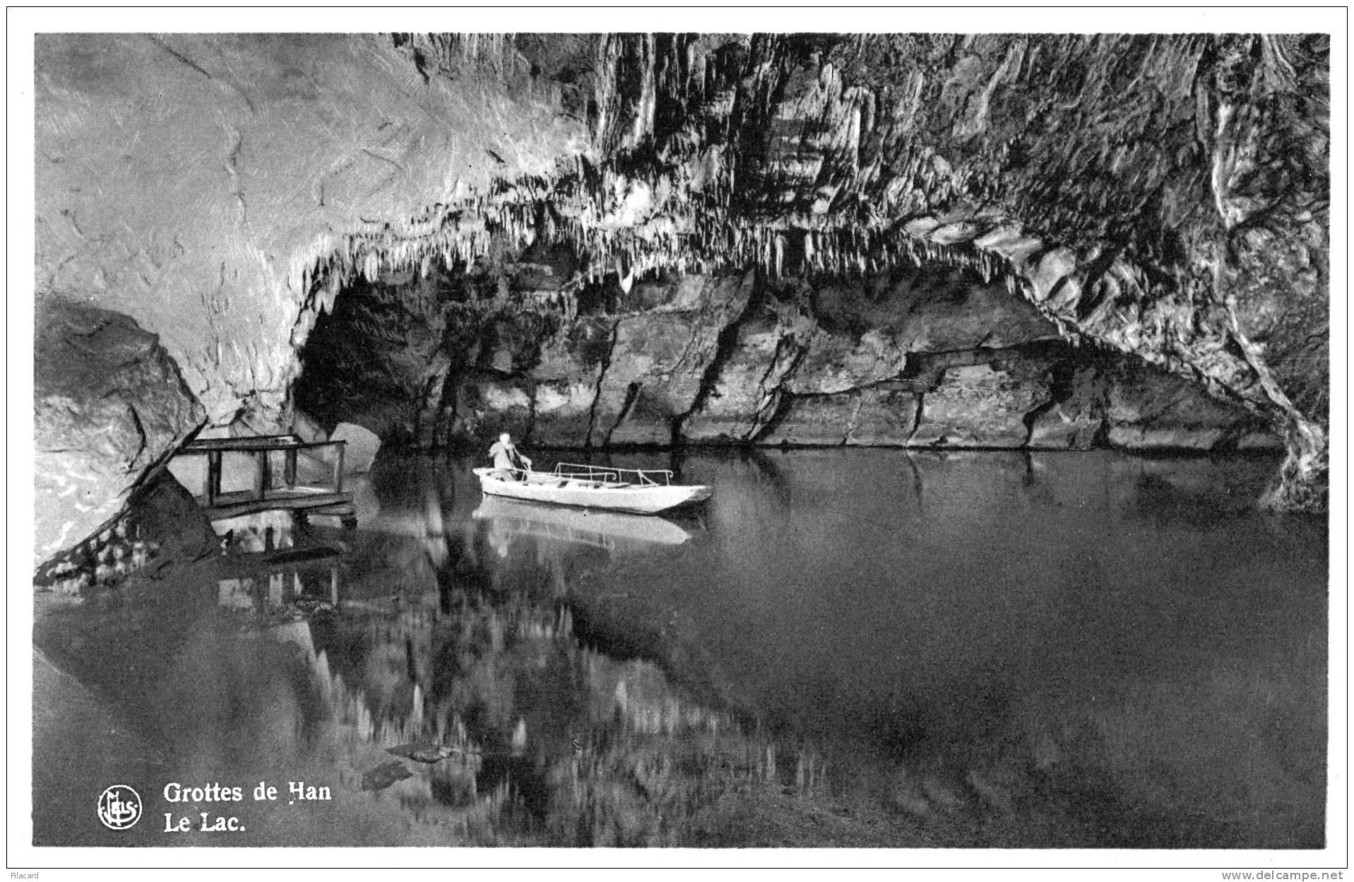 17748    Belgio,  Grottes  De  Han,  Le  Lac,  VG  1951 - Rochefort