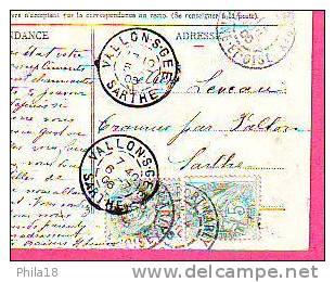 PORT MARLY CHEMIN DES VOISINS  CP COULEUR CIRCULE 6 - 7 - 1906 - Non Classés