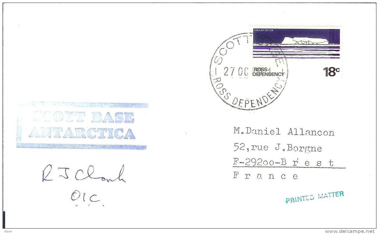 6370  SCOTT BASE - ROSS DEPENCY - ANTARTICA  - 1980 - Dependencia Ross (Nueva Zelanda)