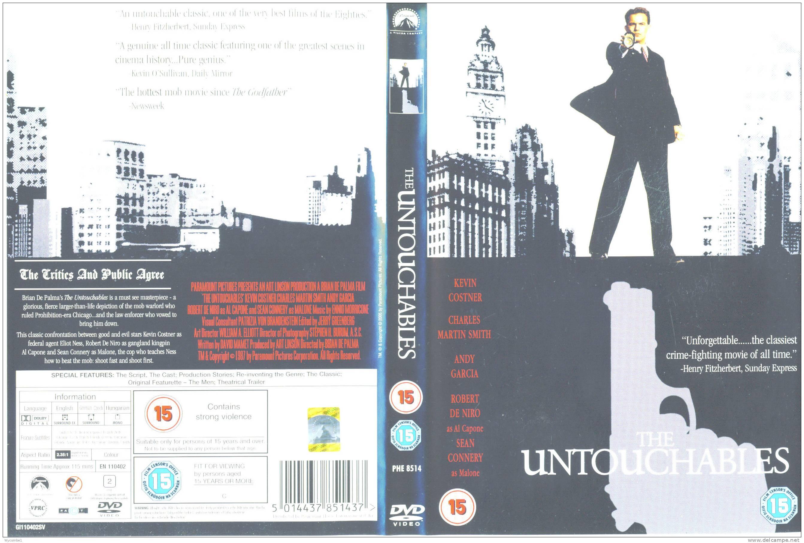 THE UNTOUCHABLES - Kevin Costner (Details In Scan) - Crime