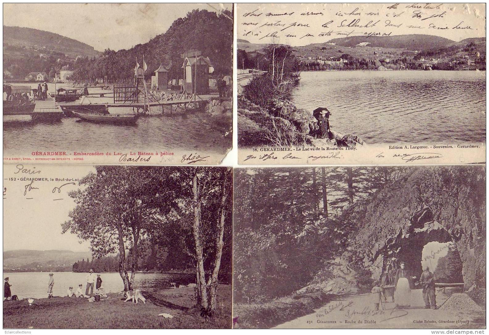 Gérardmer.. Vosges...Vues Diverses Dont 4 Avec Tramway.1 Lot De..16 CP.. ( Voir Scan  Et/ou Description) - Cartoline