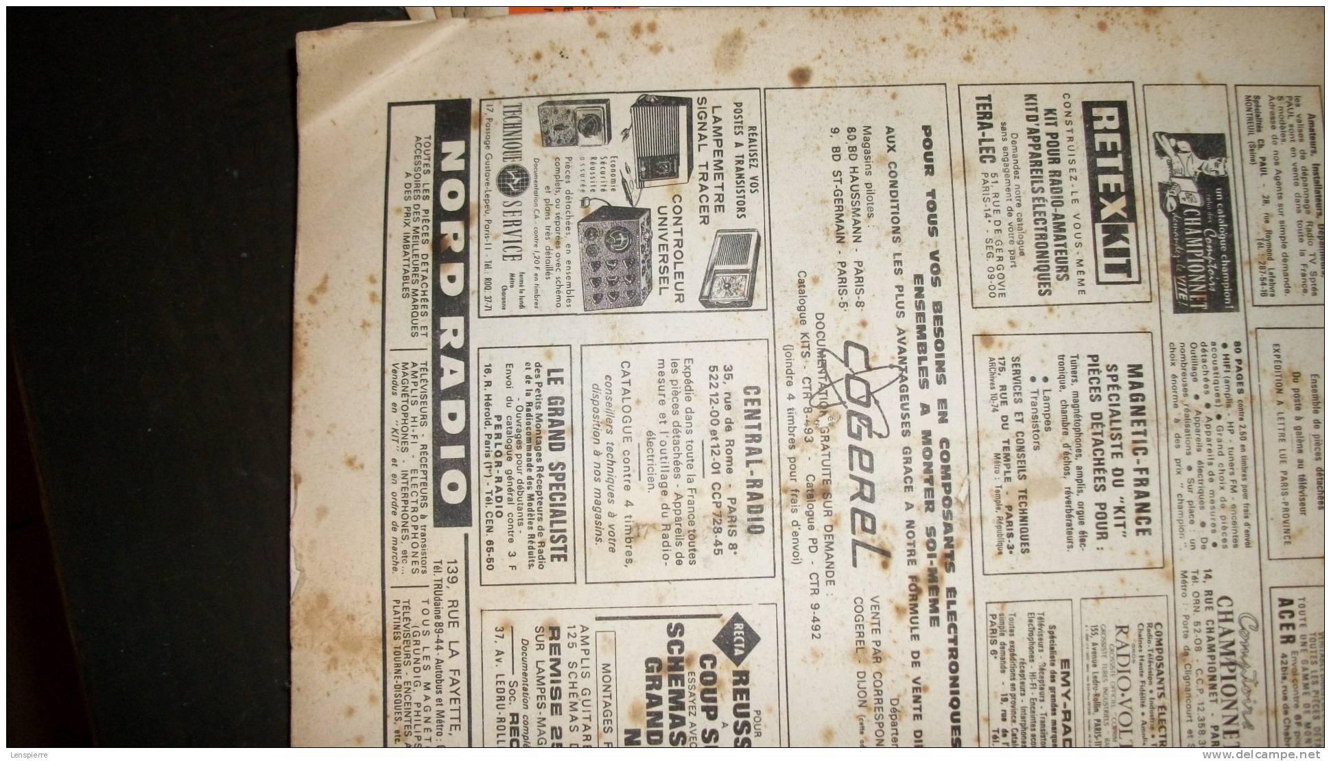 LOT DE 9 REVUES - TECHNIQUE RADIO - N° 39 à 47 VOTRE CARRIERE - ANNEE 1965 - Unclassified
