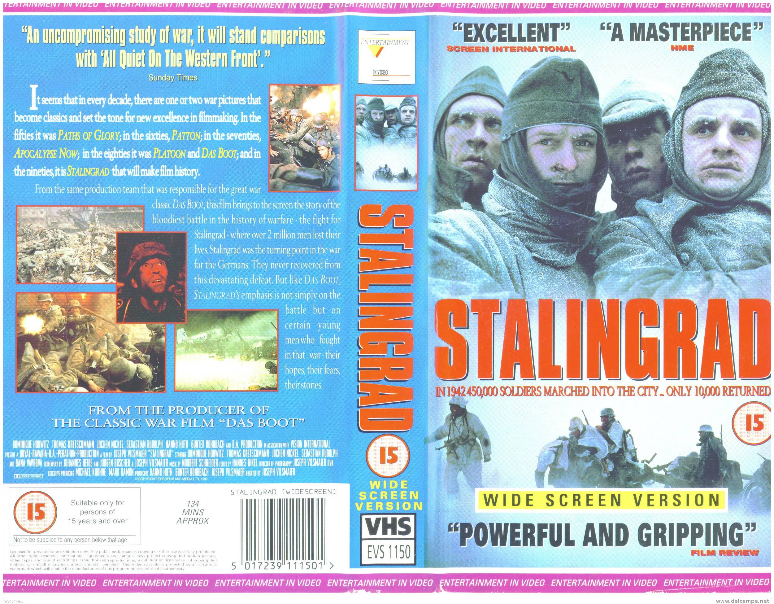 STALINGRAD - Dominique Horwitz (For Full Details See Scan) - Geschichte