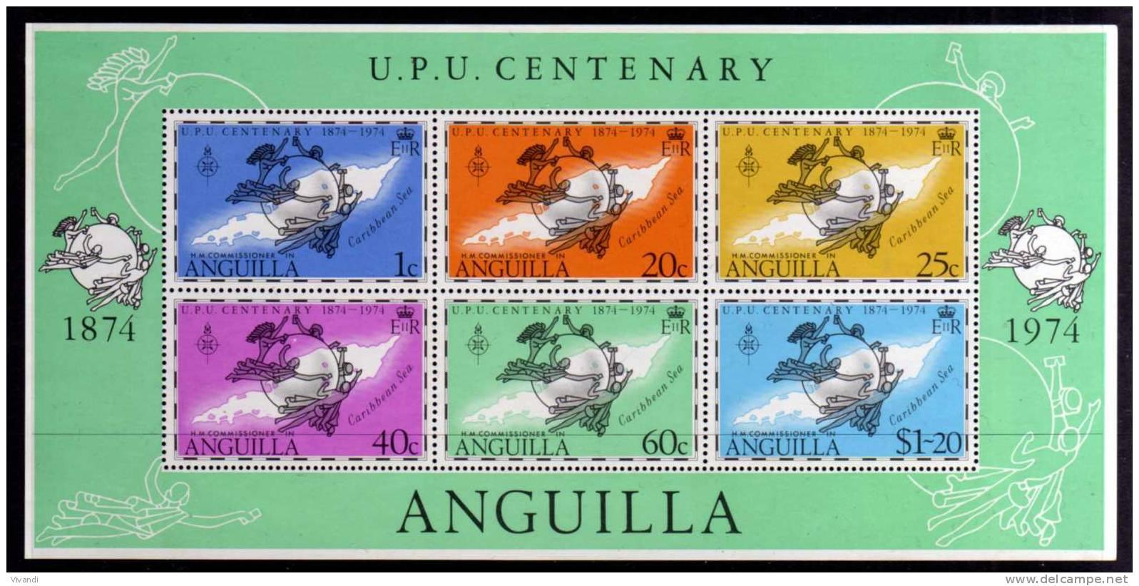 Anguilla - 1974 - UPU Centenary Miniature Sheet - MNH - Anguilla (1968-...)