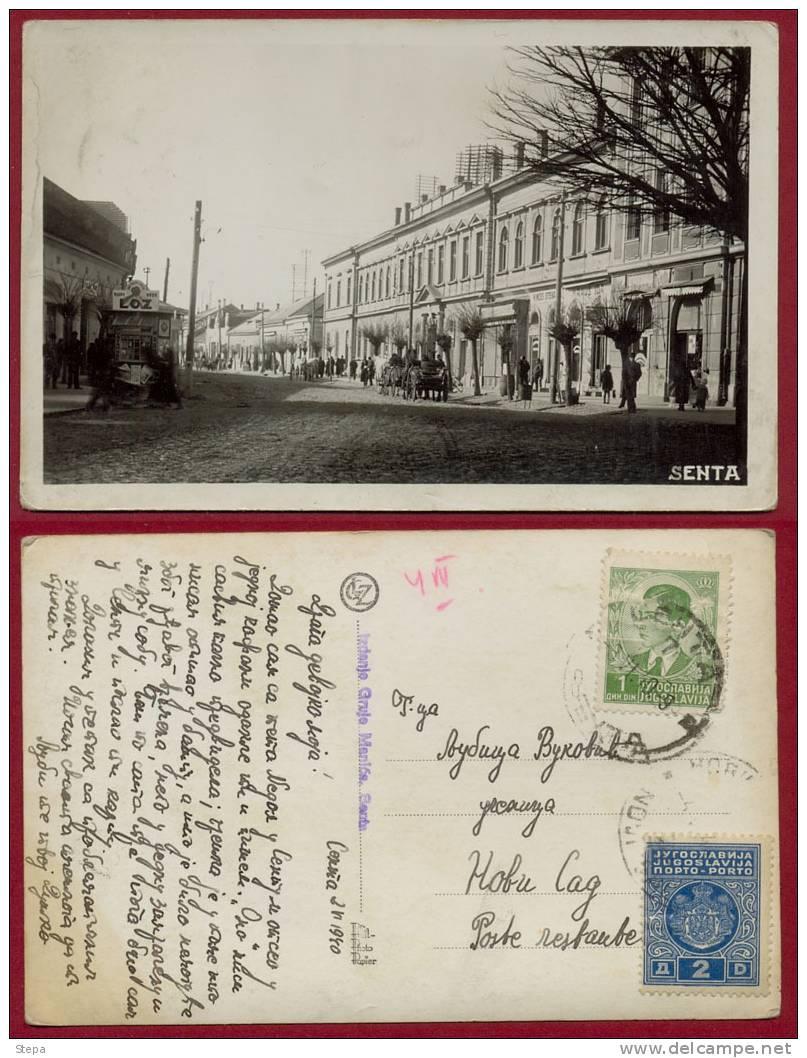 SERBIA, SENTA-POSTAGE DUE PHOTO PICTURE POSTCARD 1940 RARE !!!!!!!!!!!!!!! - Serbia