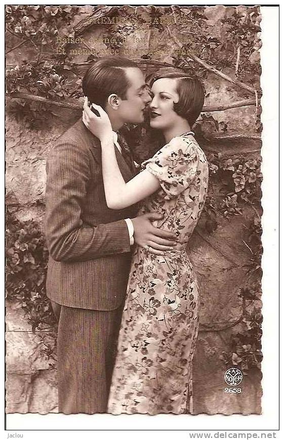 """COUPLE """"LE MOMENT DU BAISER """" REF 22268 - Couples"""