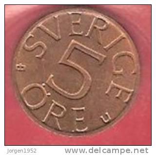 SWEDEN   # 5 ØRE  BRONZE FROM YEAR 1977 - Suède