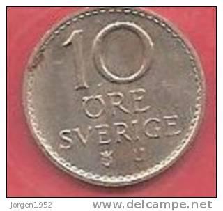 SWEDEN   # 10 ØRE KOBBERNIKKEL FROM YEAR 1973 - Suède