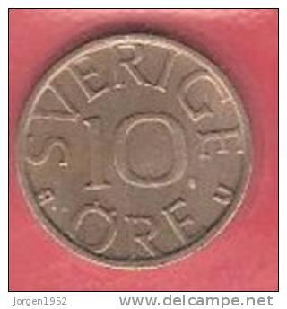 SWEDEN   # 10 ØRE KOBBERNIKKEL FROM YEAR 1978 - Suède